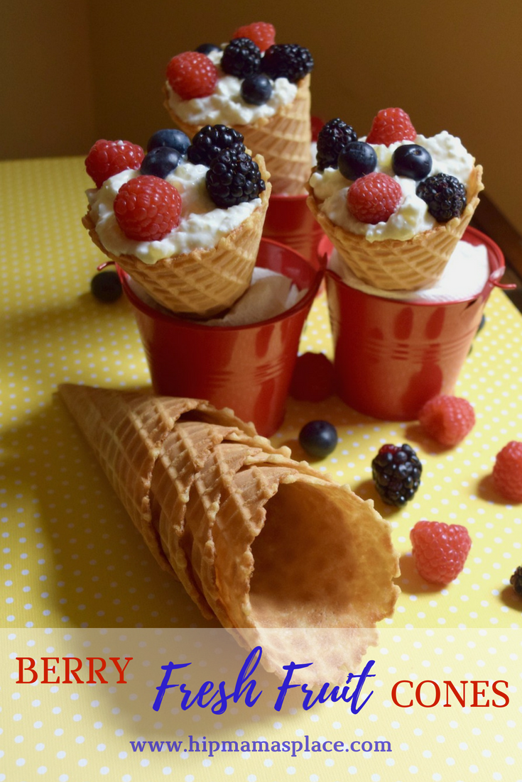 June is National Dairy Month and we're celebrating with this new delicious recipe: Berry Fresh Fruit Cones made with Hood Cottage Cheese!
