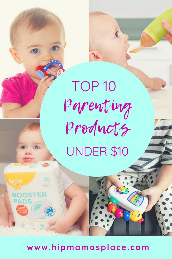 Parents like simplifying their life and saving time. Here, I put together top 10 parenting products that are under $10 each!
