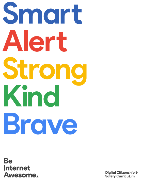 Google's The Be Internet Awesome curriculum teaches and focuses on five areas of Internet awesomeness. Full story @ www.hipmamasplace.com. #BeInternetAwesome #ItsCoolToBeKind #Sponsored