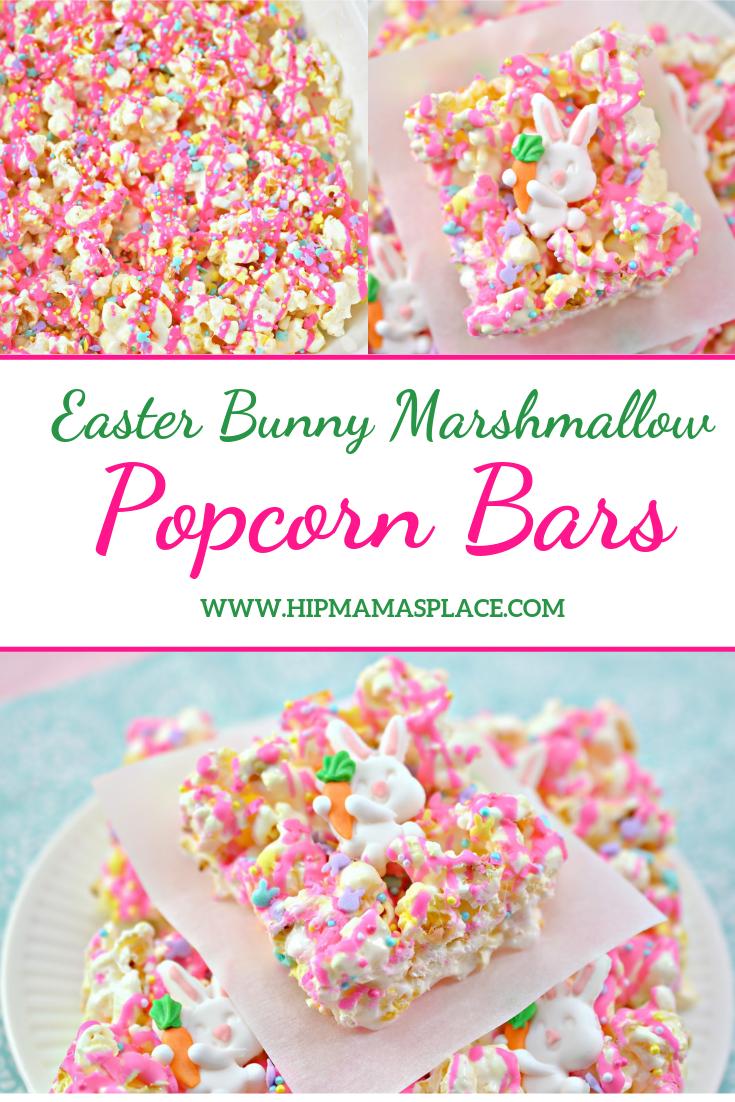 Easter Bunny Marshmallow Popcorn Bars