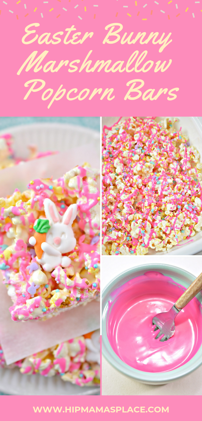 How to make Easter Bunny Marshmallow Popcorn Bars