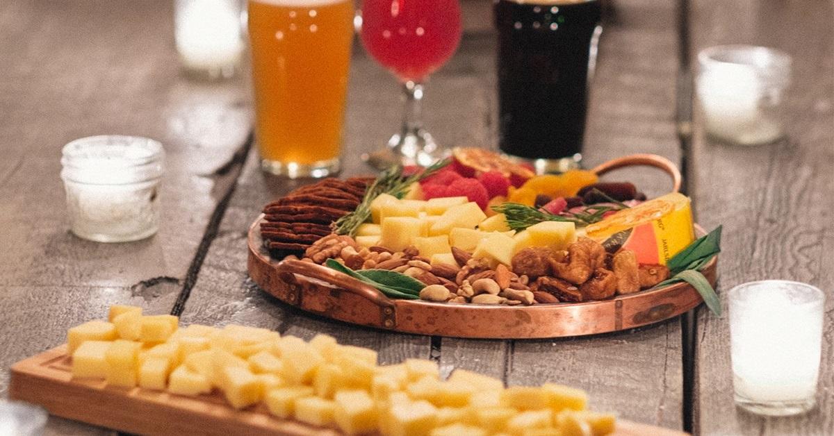 Jarlsberg cheese board
