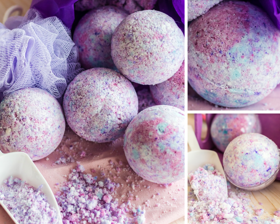 how to make unicorn bath bombs diy