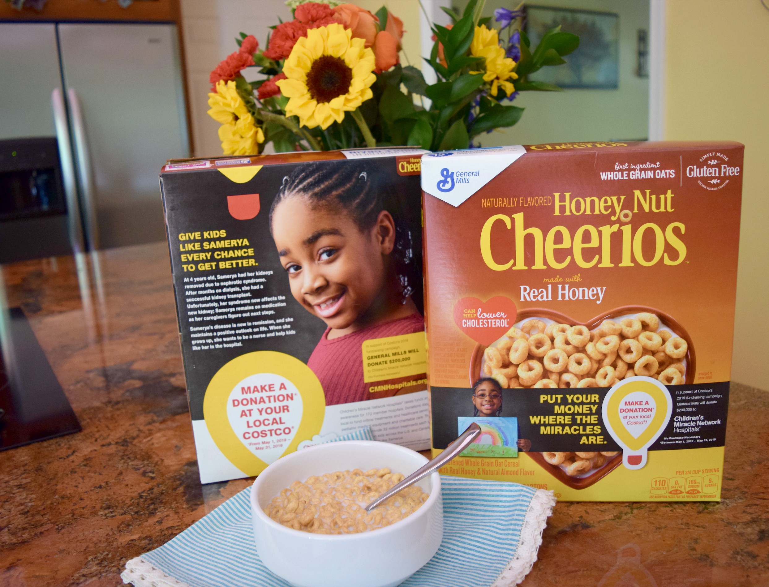 Giving back is very important to us as a family. This month of May, help a great cause for children by giving back with General Mills Cereals at Costco!