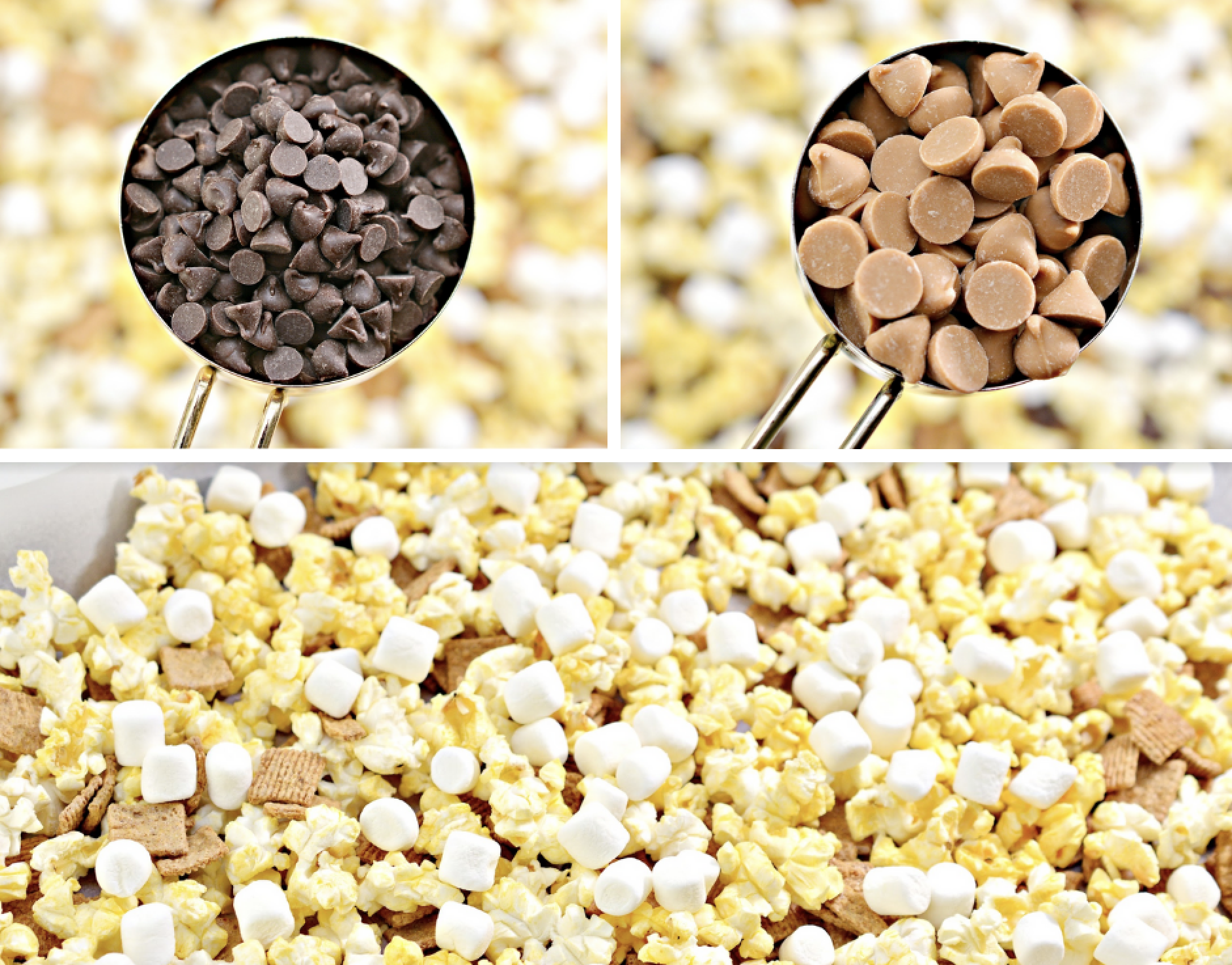 How to make S'mores Caramel Popcorn