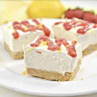 No-Bake Lemon and Ricotta Cheesecake Bars