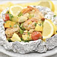 Shrimp and Veggie Foil Packs