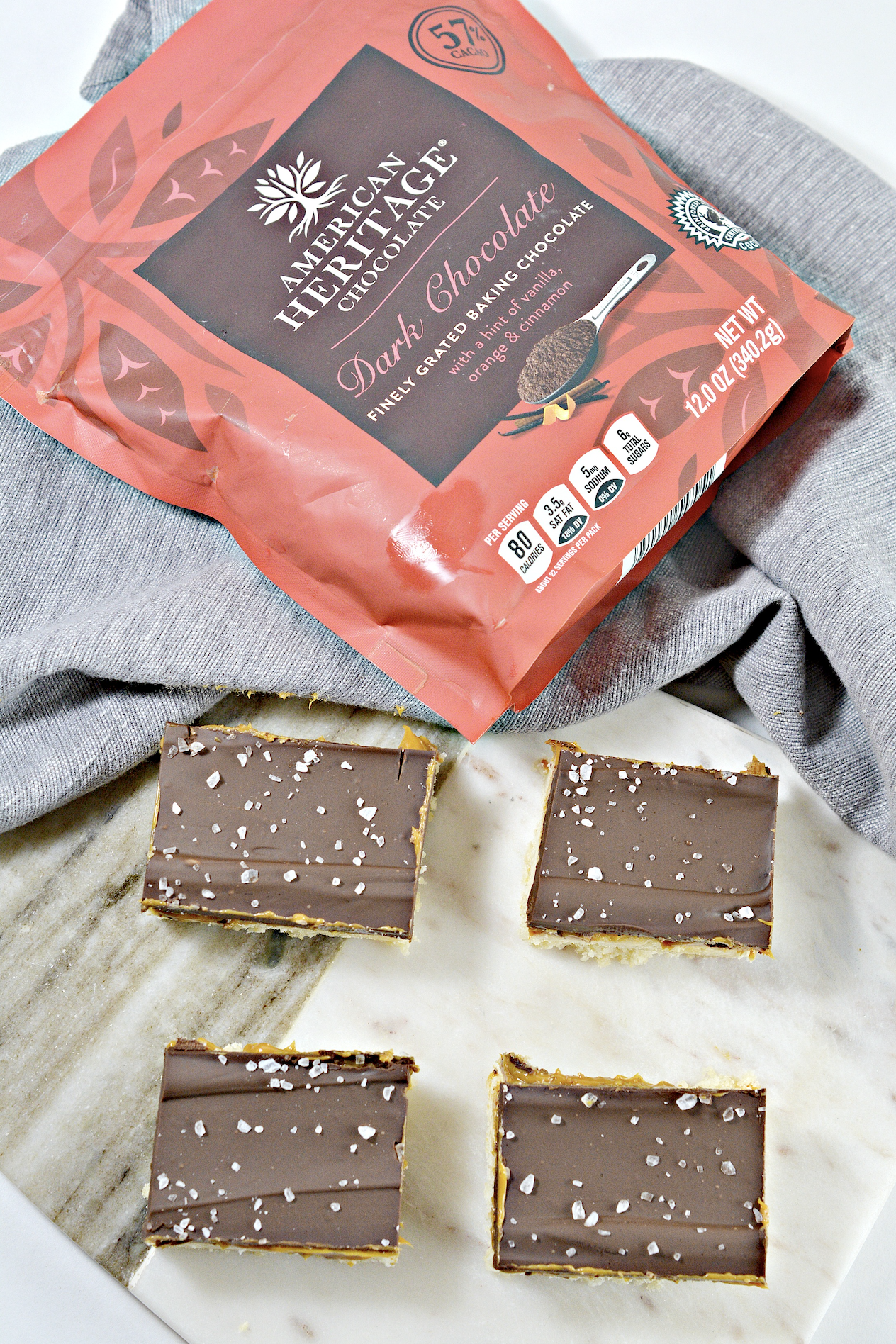 If you love chocolate and caramel, you'll love this easy Caramel Slice recipe made with AMERICAN HERITAGE Finely Grated Baking Chocolate! #ad #baking #familybaking #bakingguide @Chochistory