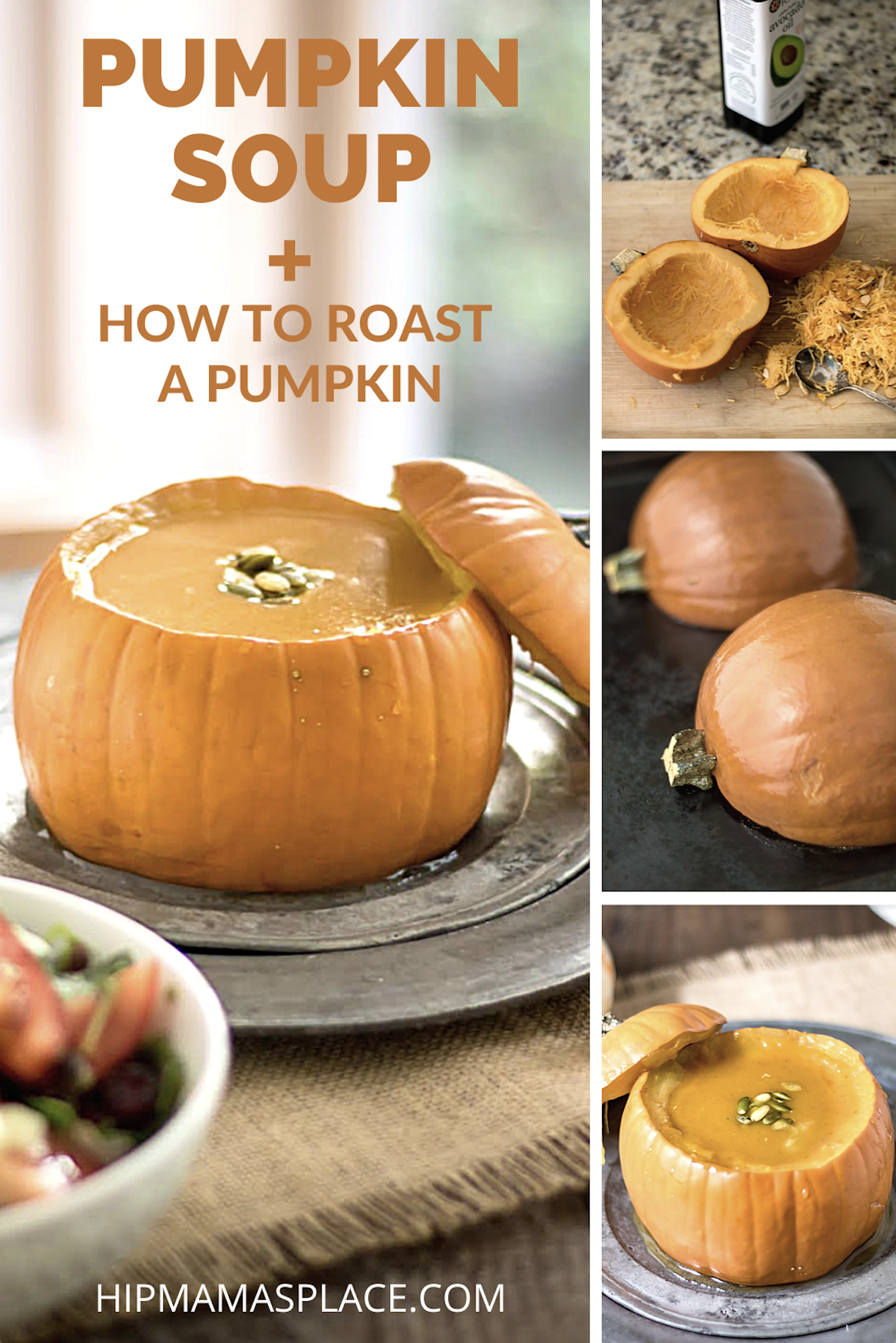 Have you ever wondered how you roast a pumpkin? Well, here, I'm showing you how to make pumpkin soup and how to roast a pumpkin!