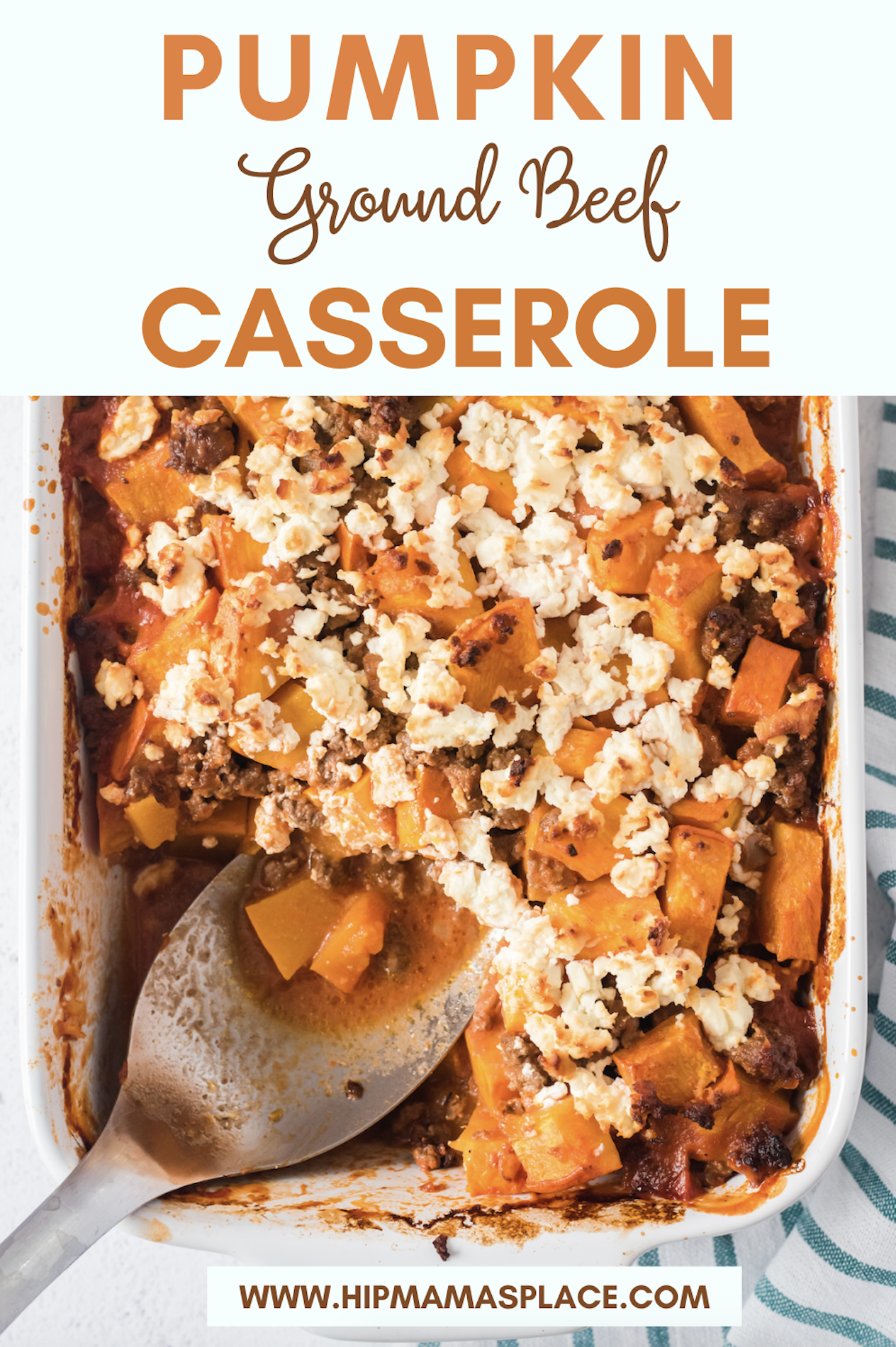 Bring pumpkin to your dinner table this fall with this delicious and savory pumpkin ground beef casserole dish!