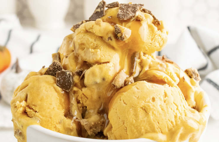 Caramel Crunch Pumpkin Ice Cream