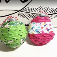 Twisted Paper Ornaments
