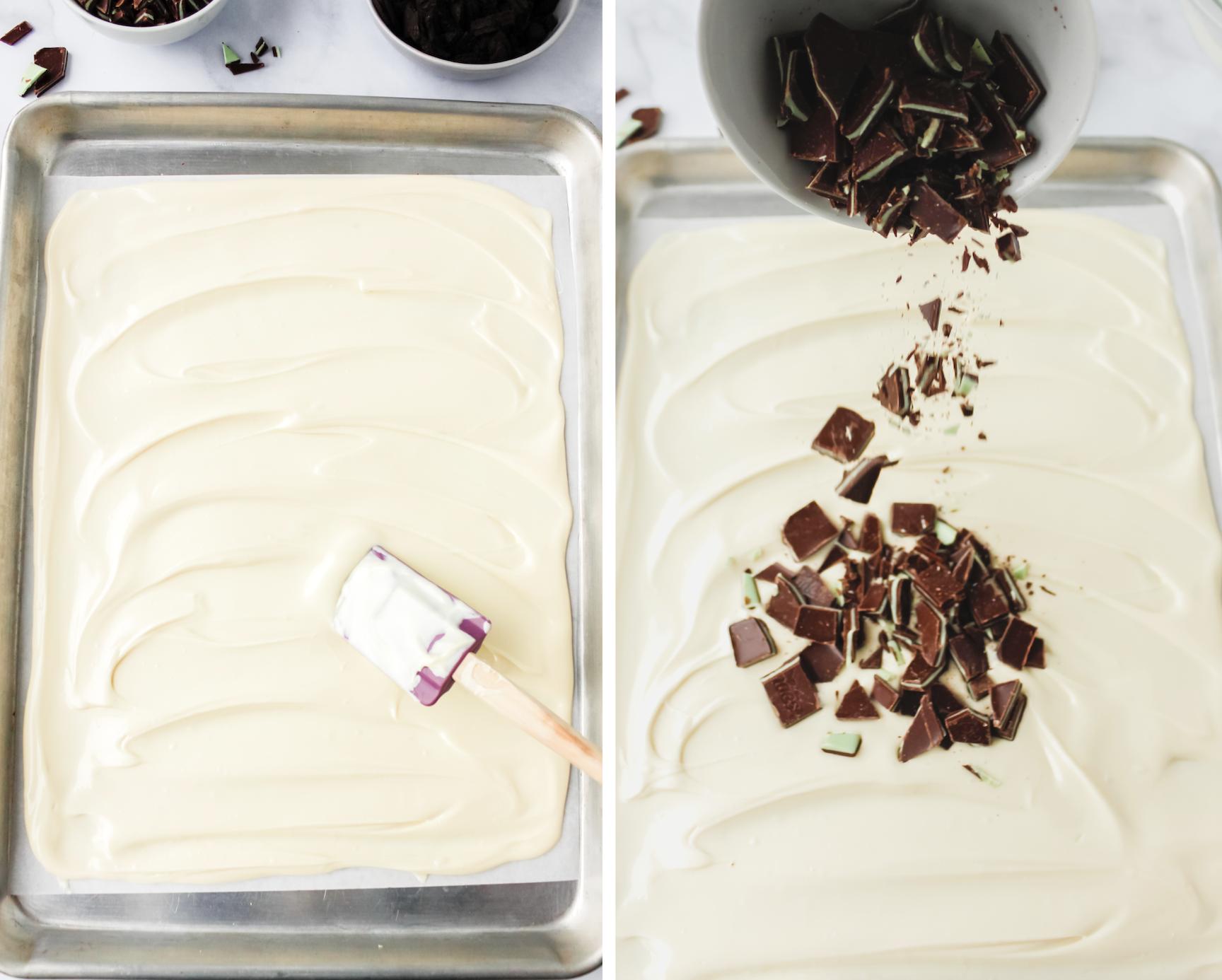 how to make mint chocolate bark