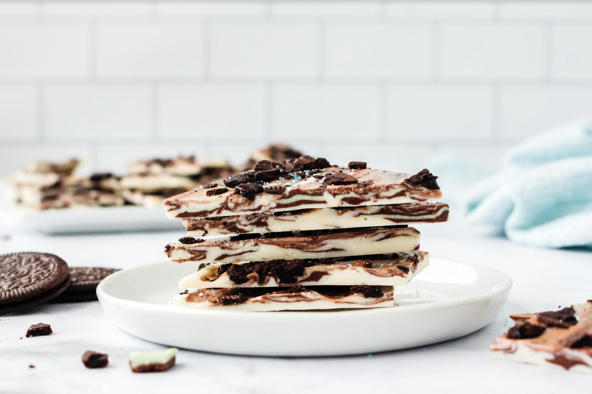 easy mint chocolate bark recipe