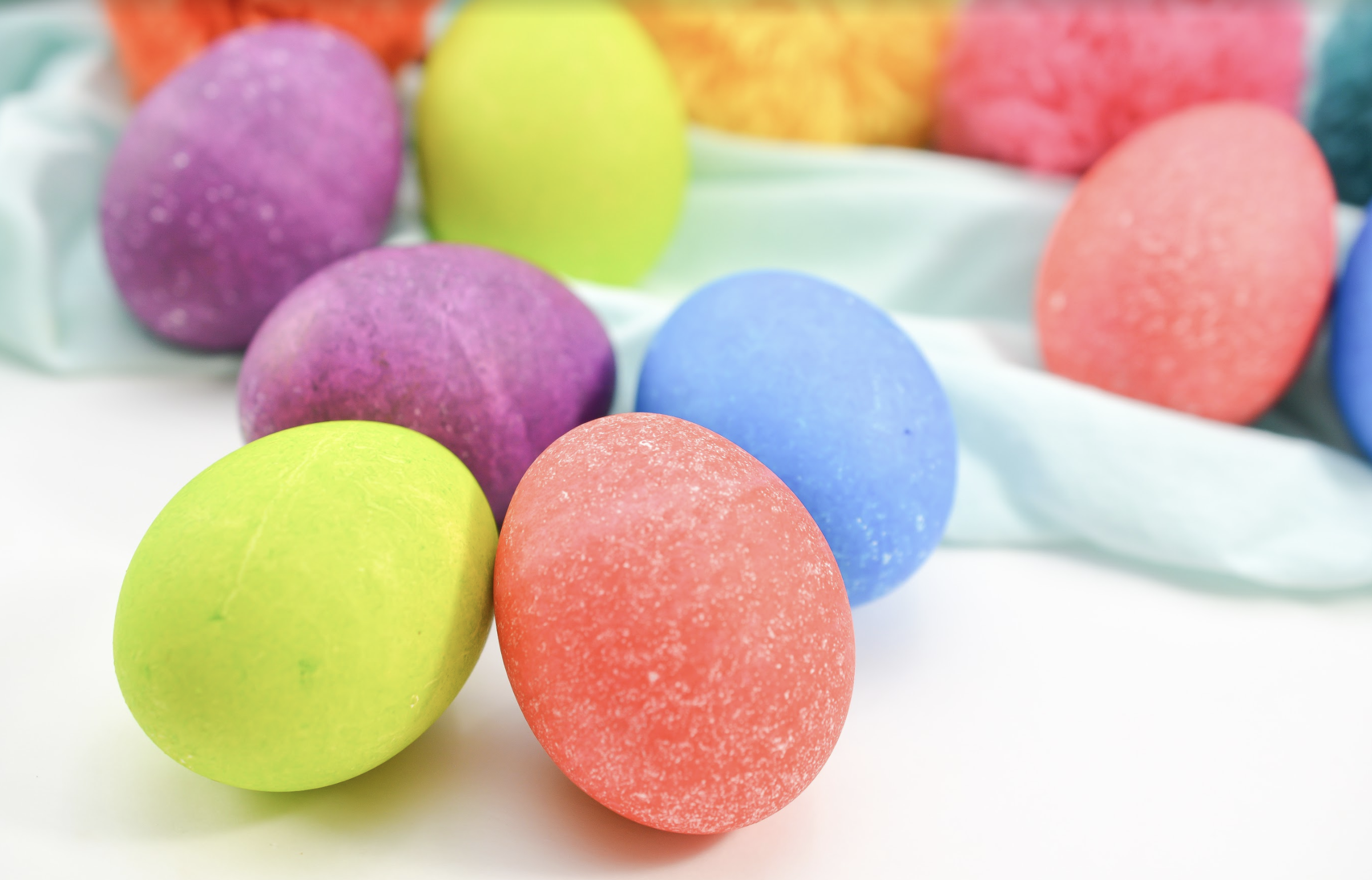 how to make rice dyed Easter eggs