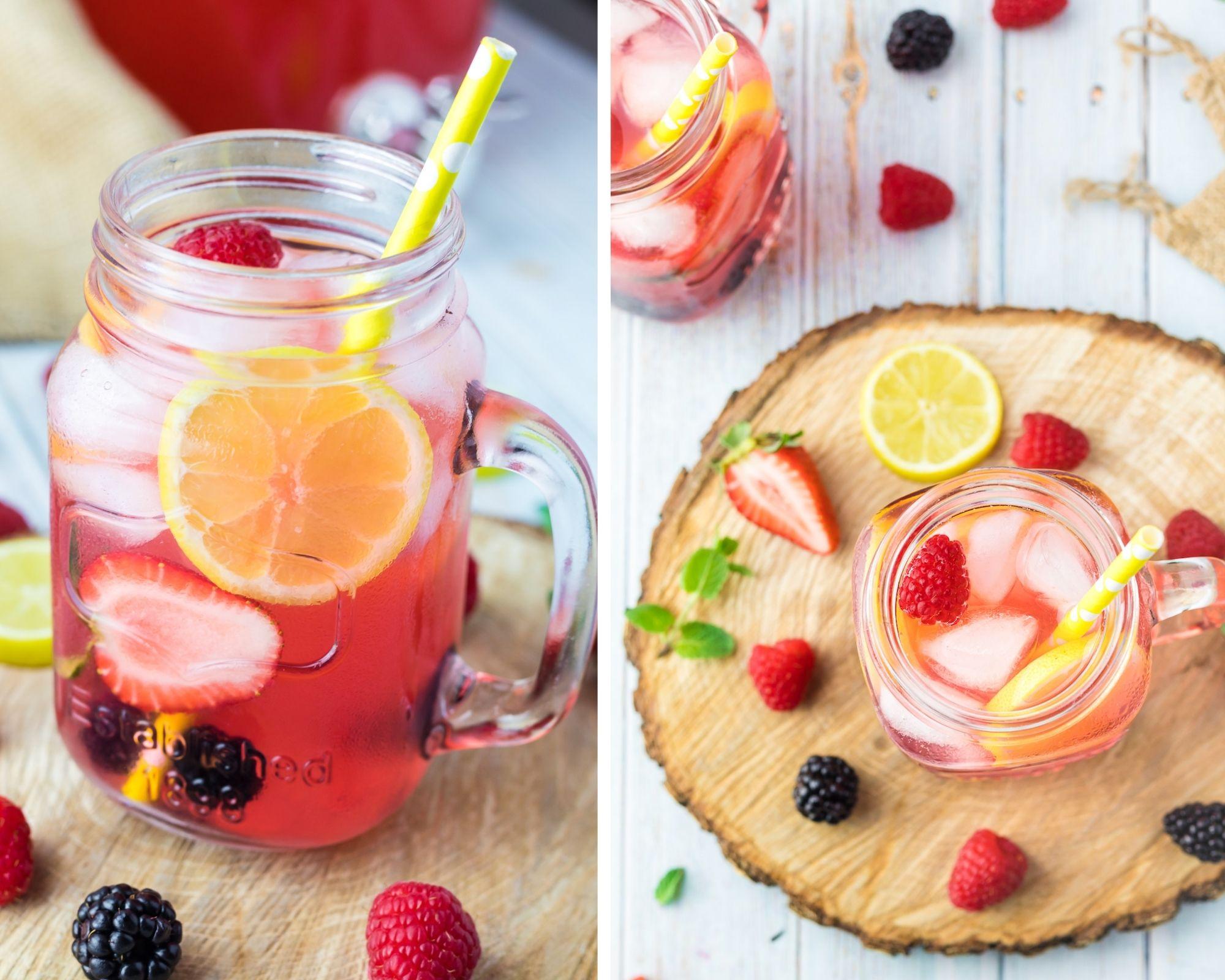 sparkling berry lemonade
