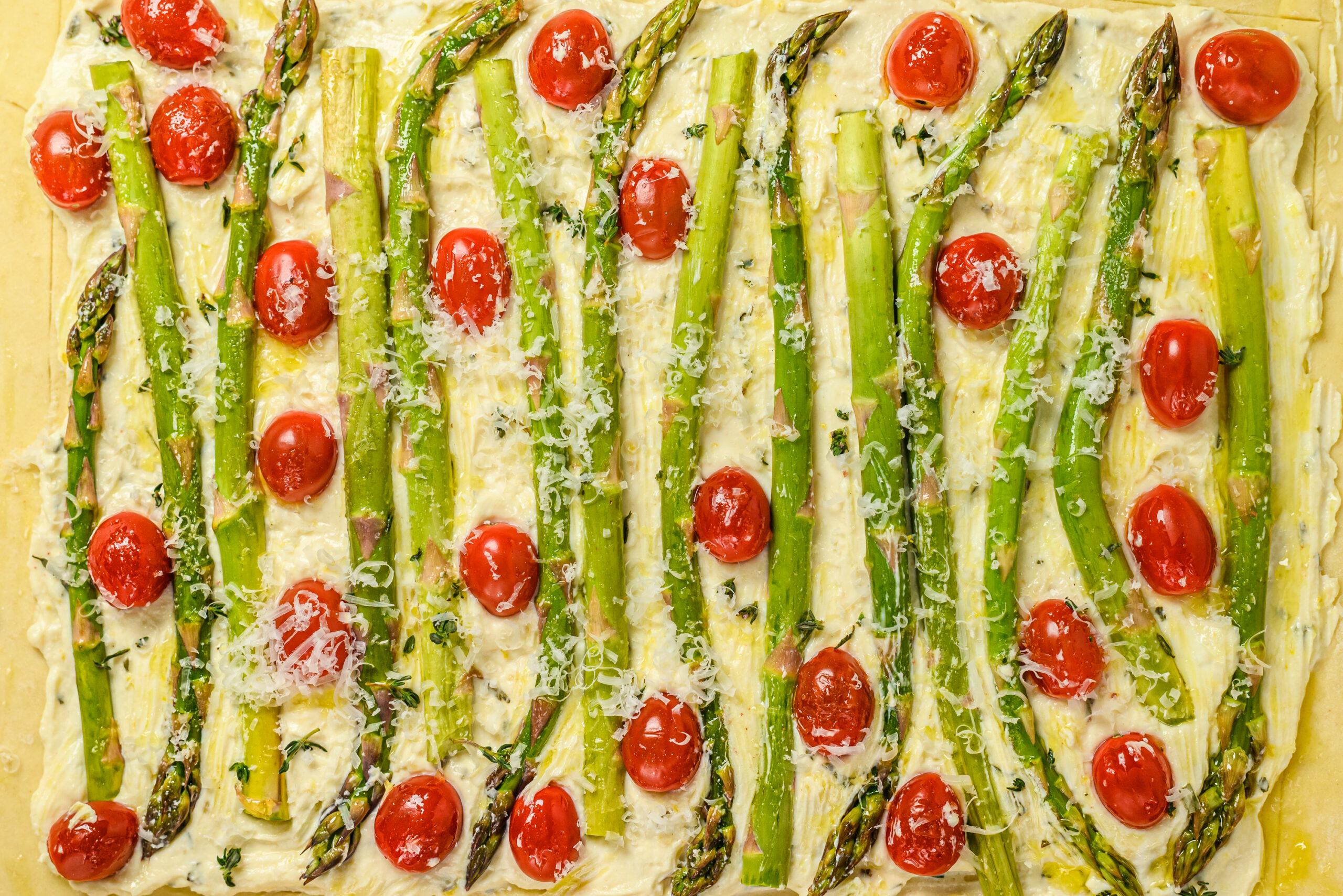 breakfast asparagus tomato tart