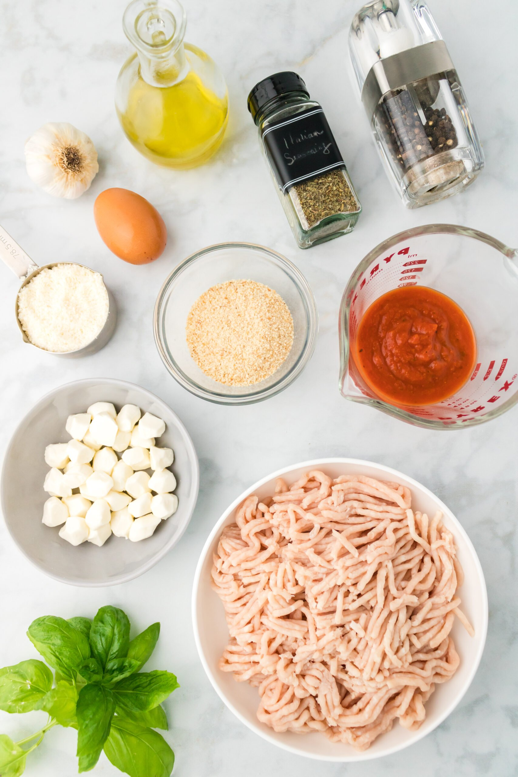 cheesy chicken parmesan meatballs