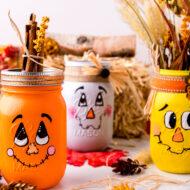 DIY Scarecrow Mason Jars – Fall Mason Jar Crafts
