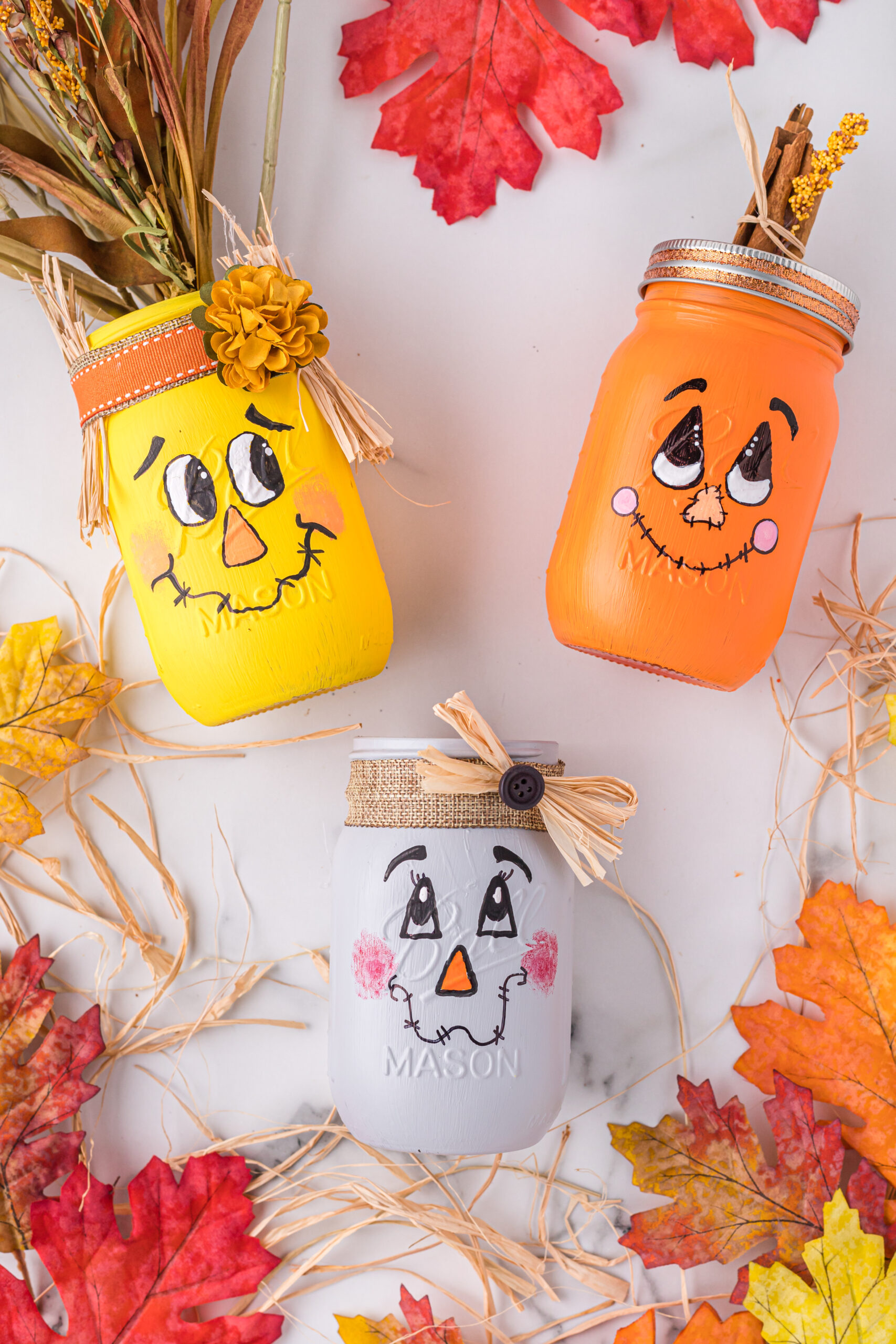 scarecrow mason jar diy