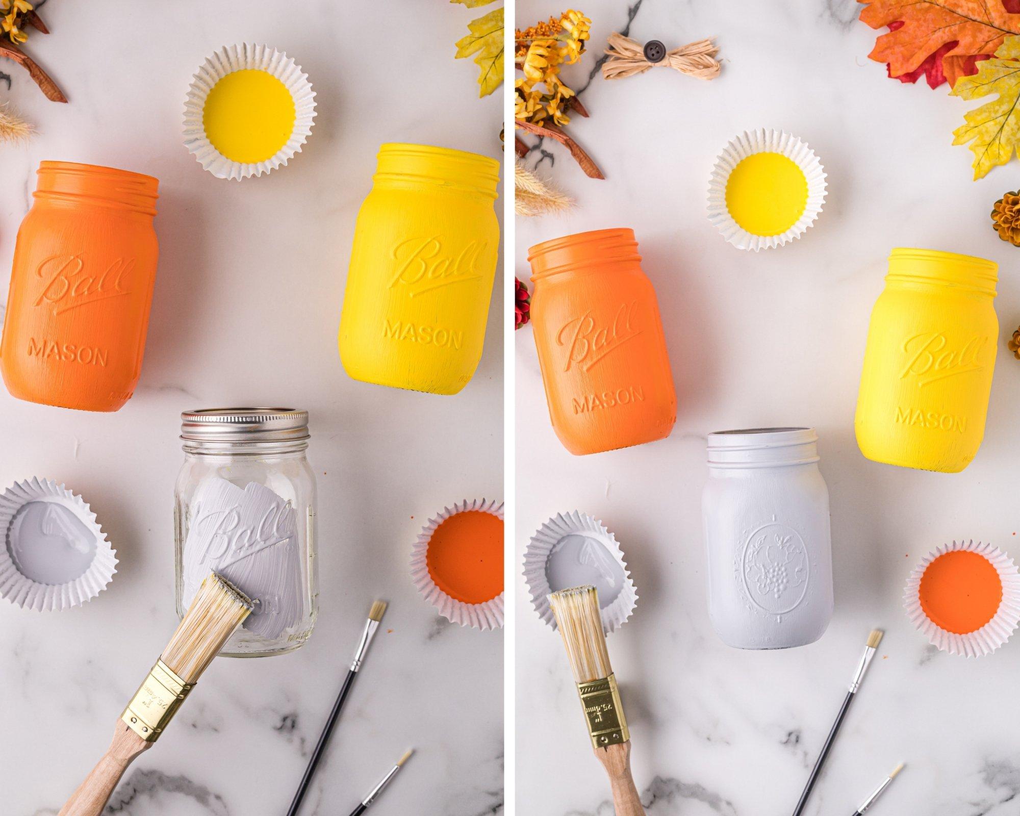 how to make scarecrow mason jars