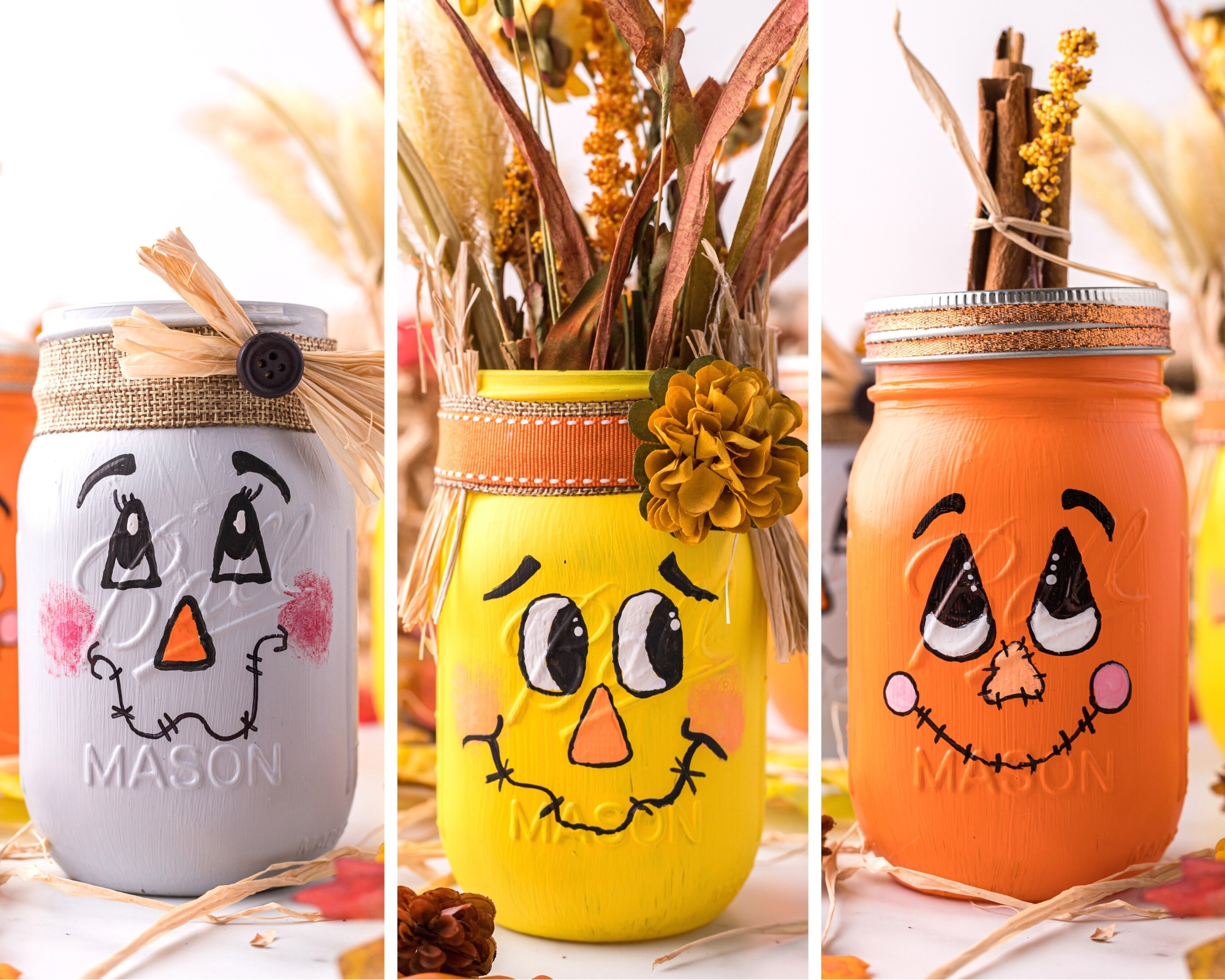 diy scarecrow mason jars